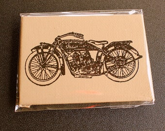Indian Motorcycle Mini Canvas Magnet - Two by Three Inch