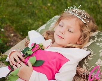 Sleeping Beauty Aurora Dress Costume Pink size 3-6