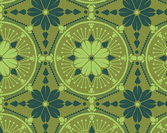Anna Maria Horner True Colors - Medallion - Emerald PWTC004 100% Quilters Cotton Available in Yards, Half Yards and Fat Quarters