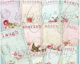 SALE ADORE TICKETS Collage Digital Images -printable download file-