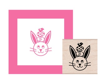 NEW for 2017 Easter Bunny with bird Rubber Stamp