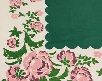 "Vintage Simtex ""Passing Beauty"" Tablecloth"