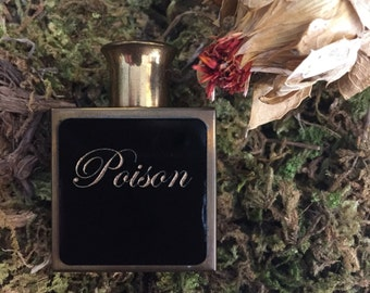 Poison ~ Vintage 1950's Purse Size Perfume Bottle Upcycled