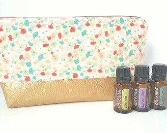 Essential Oil Pouch, Oily Pouch, Essential Oil Storage - Femme Floral
