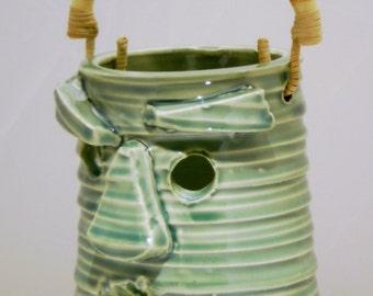 tiki lantern ceramic handmade