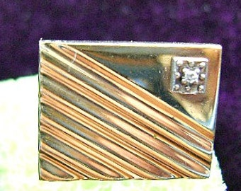 CUFFLINKS, VINTAGE, 1930'S, Art Deco, Gold Plated, Great Condition, Art Deco