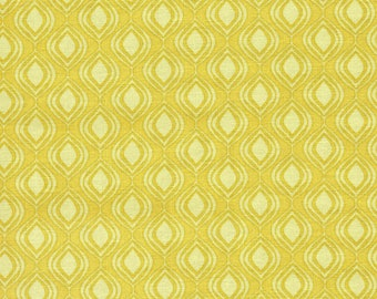 Bamboo Yellow Free Spirit Cocoon Shine Print 100% Cotton Quilting Fabric