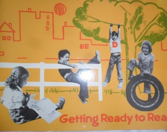 "Vintage 1976 ""Getting Ready to Read"" Library book by Houghton Mifflin Reading Series"