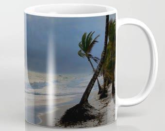 Coffee Mug Cup Photo 20 Ocean Sea Sunset Beach Palm tree 11oz or 15oz by L.Dumas