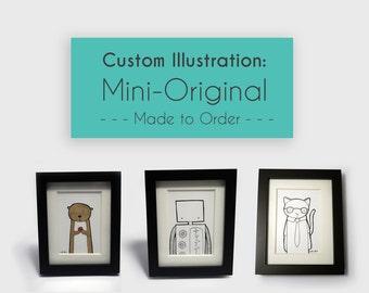 Custom Mini Original - Made to Order, Hand drawn