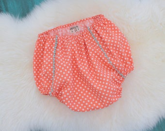 Retro Bloomers/Baby Shower Gift/Vintage Style/High Waist/Baby Bloomers/Diaper Cover/Girl Bloomers-RTS 6-12m