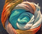 Elvincraft Lace weight 2ply Yarn Alpaca & 30% Mulberry Silk Hand Dyed Painted Dun Scathaich