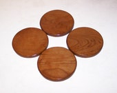 Round Coasters  Handcrafted From Solid Cherry (Set of 4)