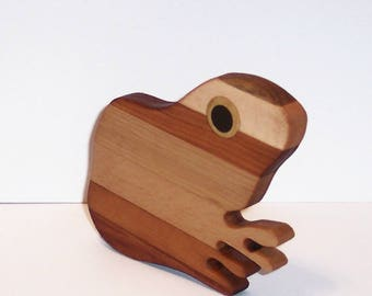 Mini FROG Cutting Board Handcrafted from Mixed Hardwoods