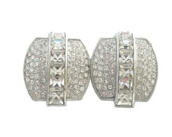 Art Deco Vintage Belt Buckle, Fine Antique 1920s Art Deco Jewelry, French Cut Crystals, Vintage Bridal Accessories