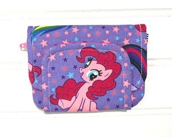 My little pony wallet, MLP wallet, Card wallet, Money holder, Children's wallet, Girls wallet, Pony coin purse, Kids purse, Fabric wallet