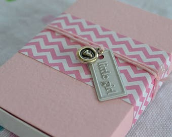 Little Gir Message Box with Tassel Gift Bag