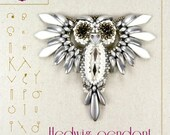 pendant tutorial / pattern Hedwig the owl – PDF instruction for personal use only