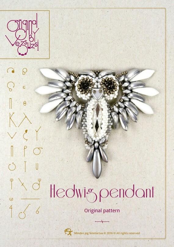 Tuto pendentif / motif Hedwig, la Chouette – instruction PDF pour un usage personnel seulement