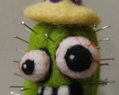 Reserved!  Zombie cactus pincushion.