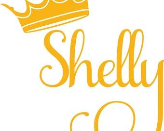 Custom Name with Crown