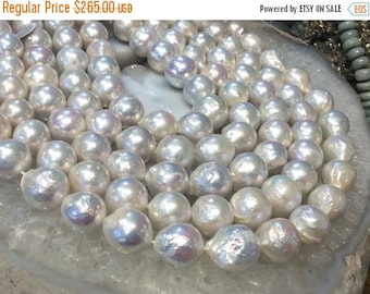 50% Mega Sale 13mm Natural White Kasumi Style Pearls