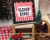 Sale Sleigh Rides-Dollhouse Miniature 1:12