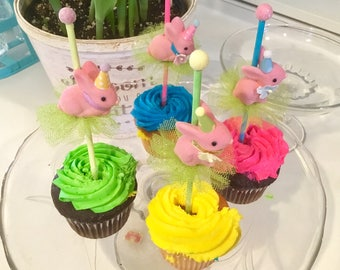 Bunny Cake Toppers/ Bunny Cake/Bunny Cupcakes/Easter Cake