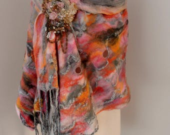 RESERVED felted wrap by plumfish
