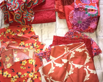 Fabric Scraps Bundle, Quilting And Craft Fabric, Bag #20