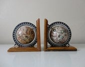 VINTAGE pair of GLOBE BOOKENDS