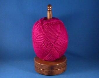 Walnut Yarn/Thread Holder - Specialty Lacquer Finish