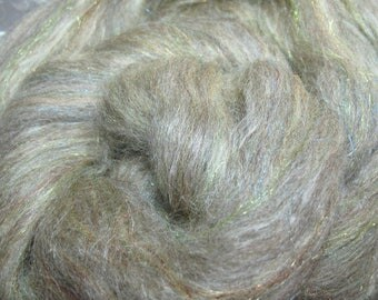 BFL/Tussah/Firestar 50/25/25 Roving Combed Top - 5oz - Undyed