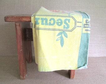 Vintage Muslin Feed Sack Bag Alfalfa Seed Antique Linens Vintage Graphics