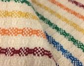 Handwoven Dishtowel - Rainbow Stripe