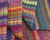 Handwoven Dishtowel Tea Towel - Rainbow Reflections