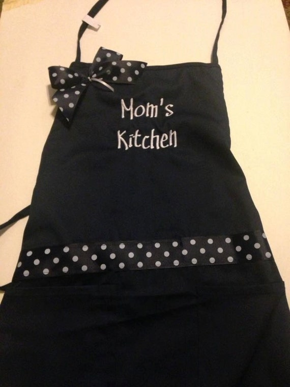 World's Best Grandma  Grandmother Navy Blue Apron  Can be personalized also