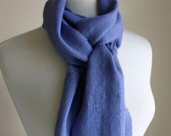 Periwinkle lace accent alpaca silk scarf