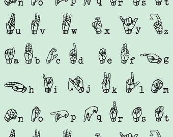 Sign Language Fabric Etsy - Car sign language