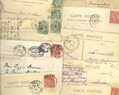 50 France Postcards Stamp 1900s-50s Airmail Etc Good Old Lot R57