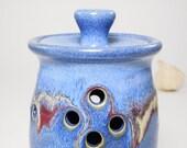 Garlic Jar - Ceramic Garlic Jar - Jar For Garlic - Garlic Keeper Jar - Garlic Keeper - Garlic Pottery Jar - Storage Garlic - In Stock