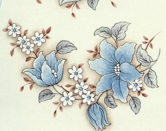 Decals for Ceramic, vintage, blue, floral - BULK LOT