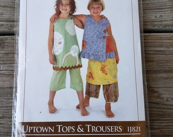 Indygo Junction - Uptown Tops and Trousers - Paper Sewing Pattern Size 2-6