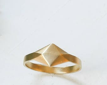 On Sale 20% Off, Thin Metal Ring, Gemetric Ring, Gold Plated Ring, Silver Plated Ring, Signature Ring, Statement Ring, 3d Ring
