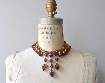 Djuna necklace | vintage 1930s necklace | glass and brass 30s necklace