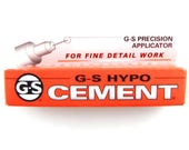 G-S HYPO CEMENT Jewelers Hobby Adhesive Crafting Glue 1/3 oz. Tube
