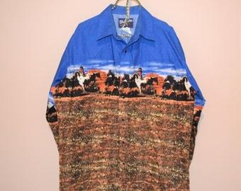 Vintage Western Horses in Sedona Shirt