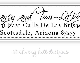 Black and White return address labels - set of 75