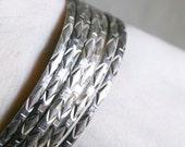 Seven Connected Sterling Silver 925 Bangle Bracelets