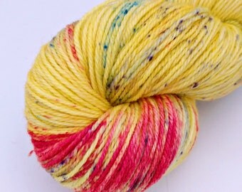 Luna Lovegood - Speckled - Hand Dyed Merino and Nylon Sock Yarn - Entree